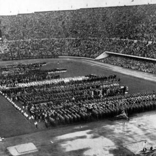 Cérémonie d'ouverture. JO d'Helsinki 1952